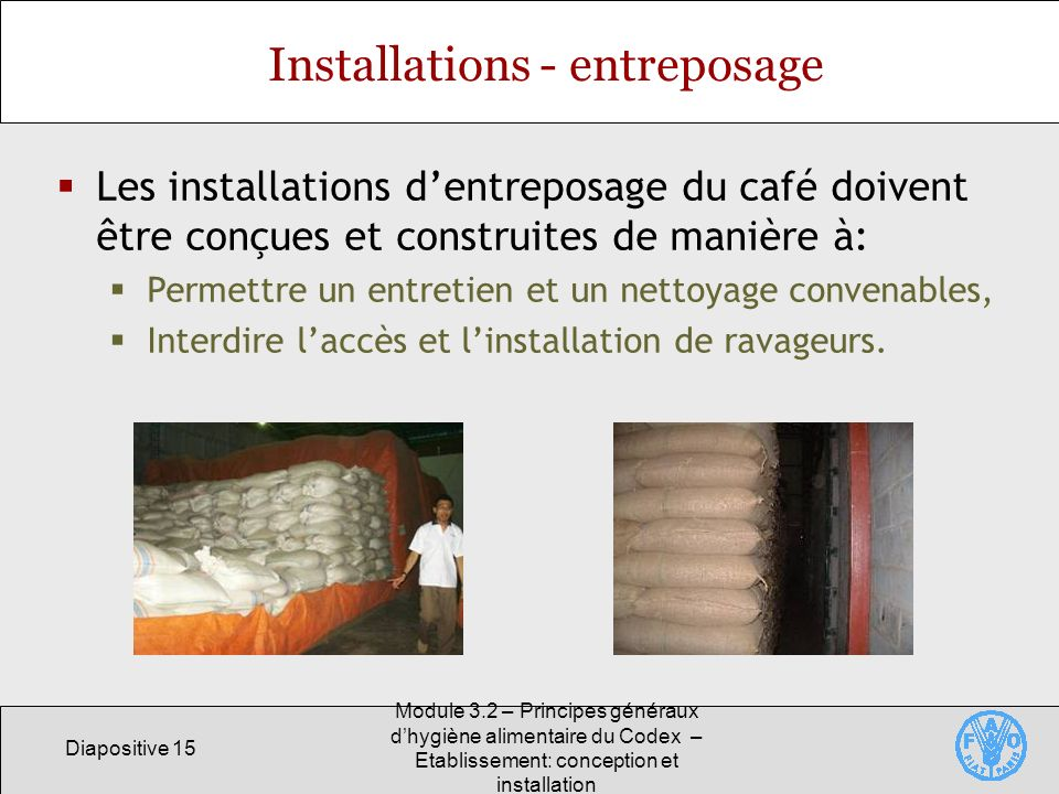Installations - entreposage