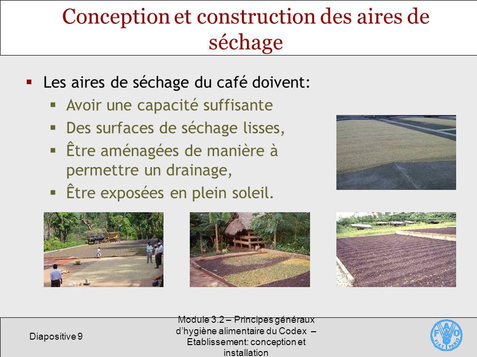 Conception et construction des aires de séchage