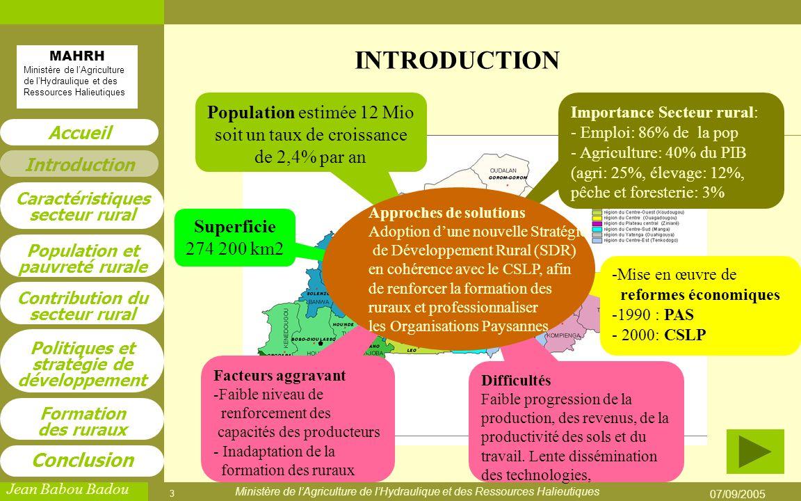 Population estimée 12 Mio soit un taux de croissance de 2,4% par an