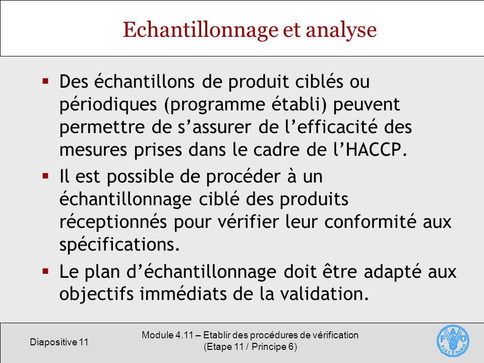 Echantillonnage et analyse