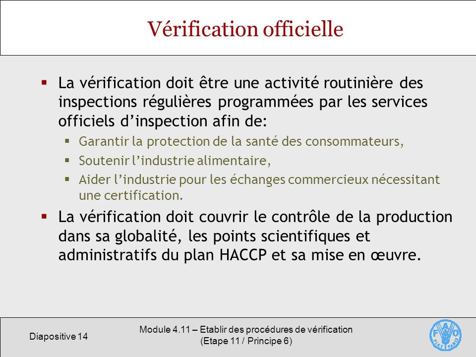 Vérification officielle