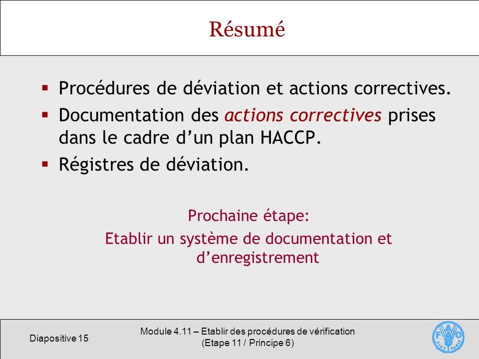 Etablir un système de documentation et d'enregistrement