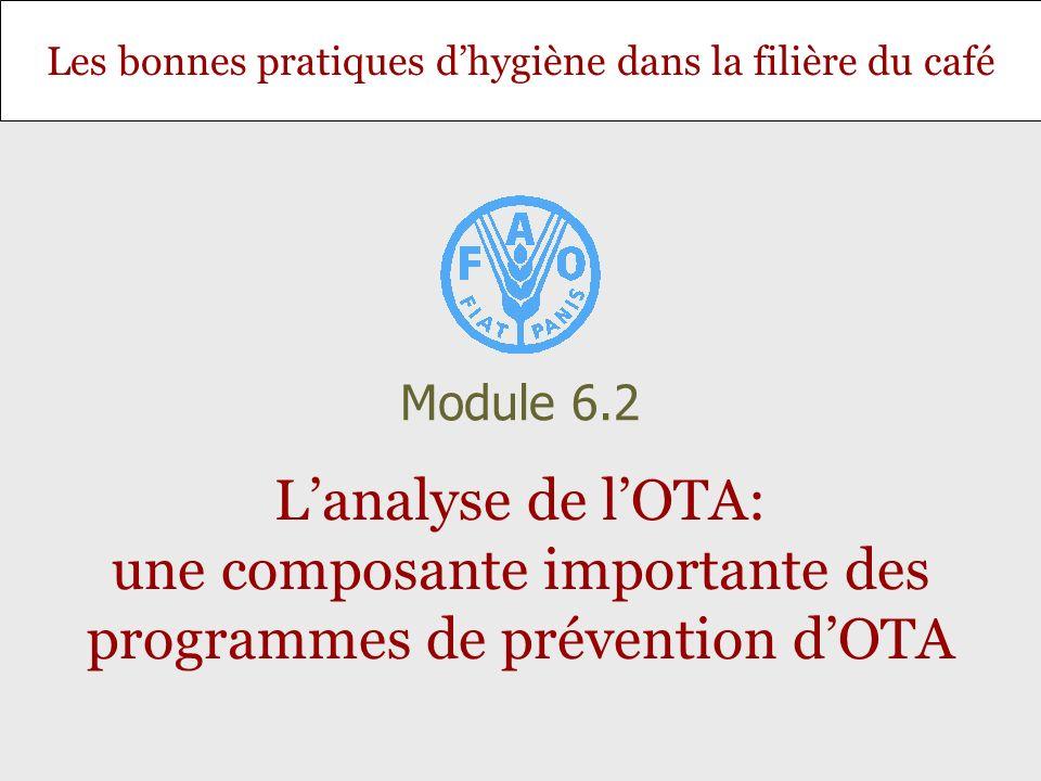 Module 6.2 L'analyse de l'OTA: une composante importante des programmes de prévention d'OTA