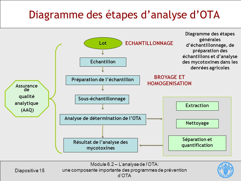 Diagramme des étapes d'analyse d'OTA