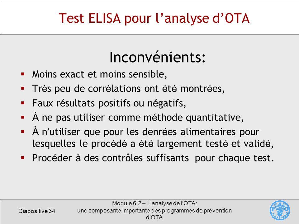 Test ELISA pour l'analyse d'OTA