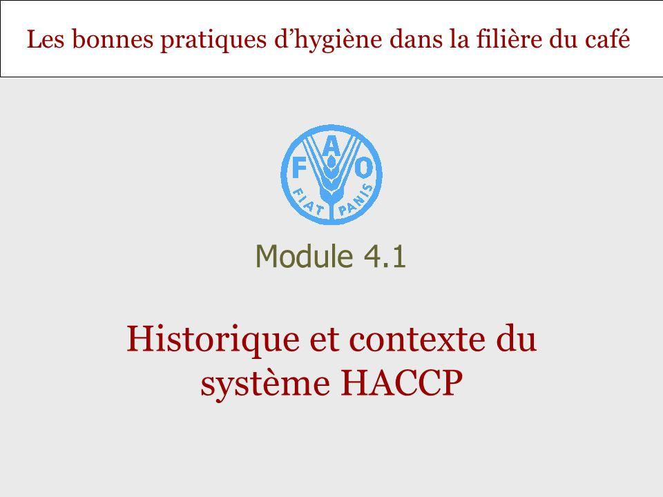 Historique et contexte du système HACCP
