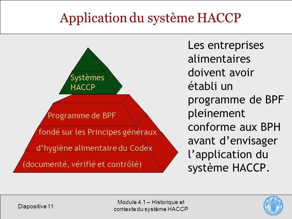 Application du système HACCP