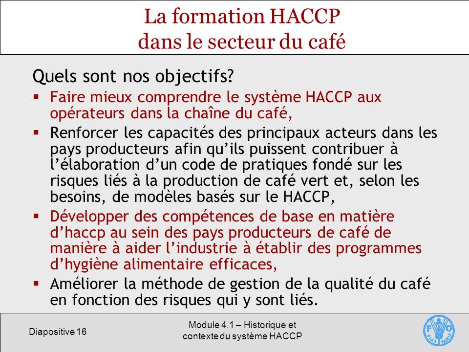 La formation HACCP dans le secteur du café