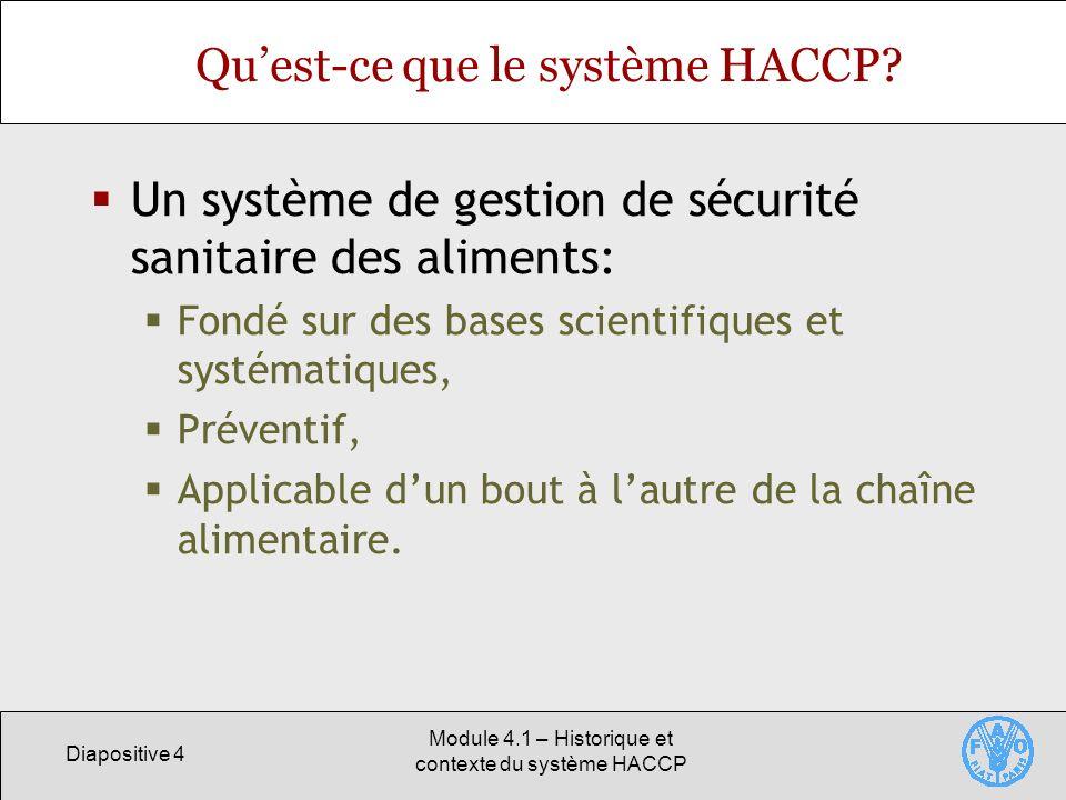 Qu'est-ce que le système HACCP