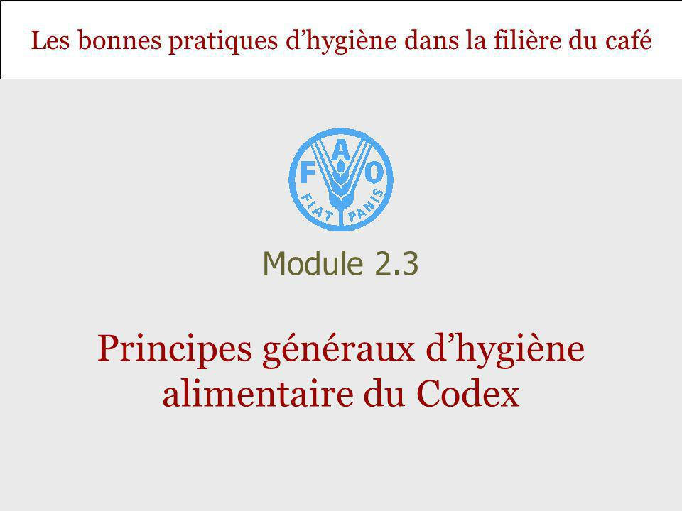 Principes généraux d'hygiène alimentaire du Codex