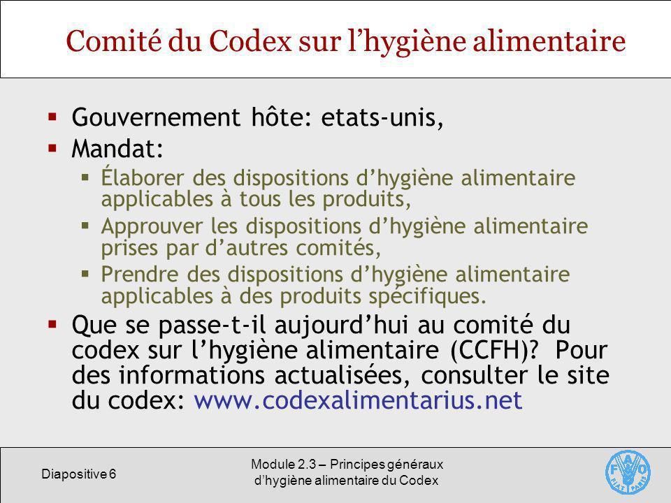Comité du Codex sur l'hygiène alimentaire