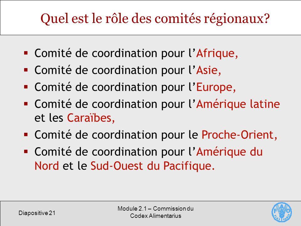 Quel est le rôle des comités régionaux