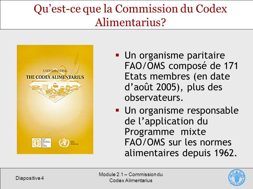 Qu'est-ce que la Commission du Codex Alimentarius