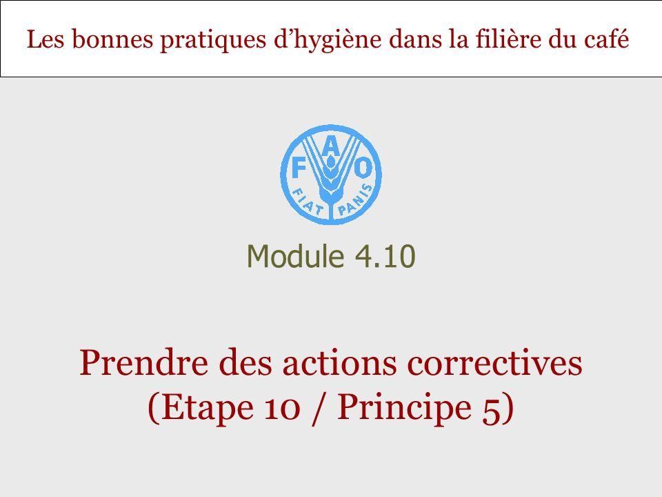 Prendre des actions correctives (Etape 10 / Principe 5)