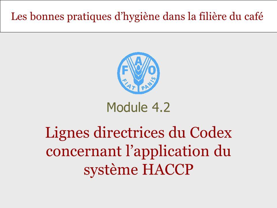 Lignes directrices du Codex concernant l'application du système HACCP