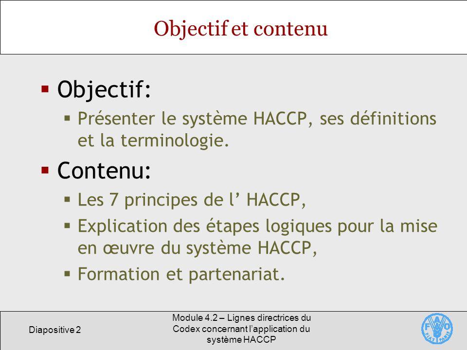 Objectif: Contenu: Objectif et contenu