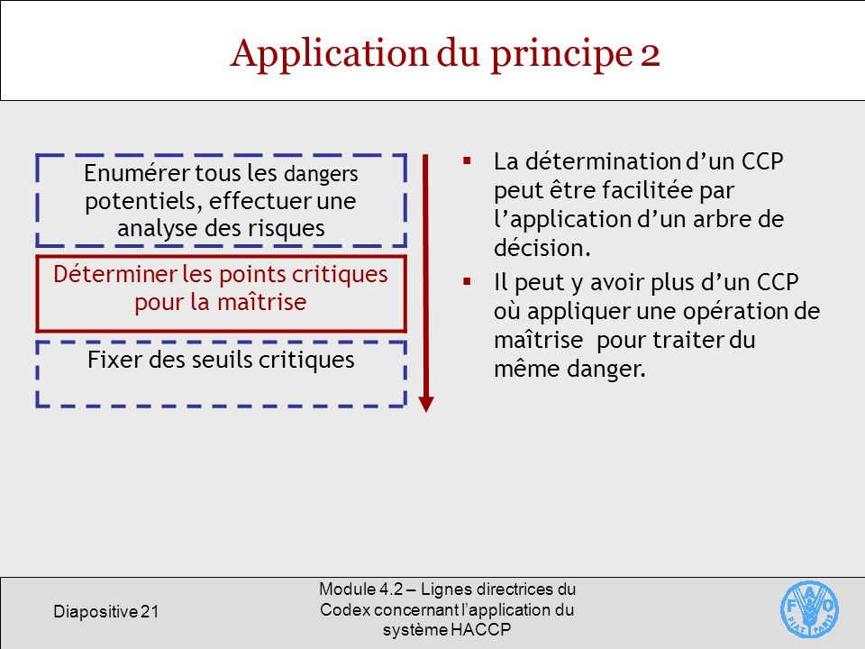 Application du principe 2