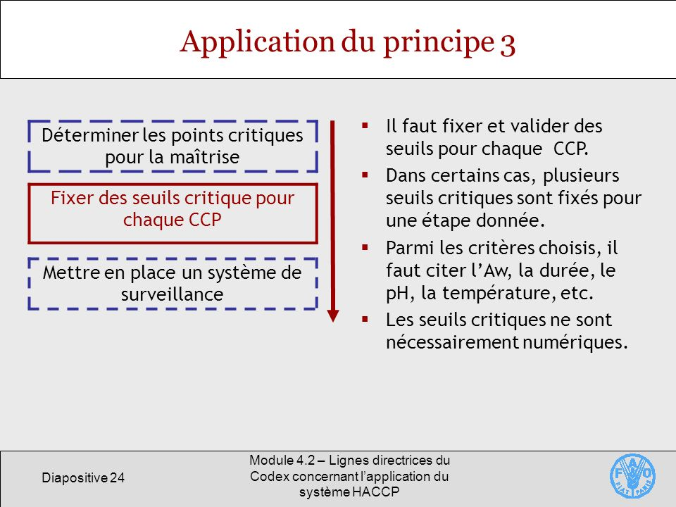 Application du principe 3