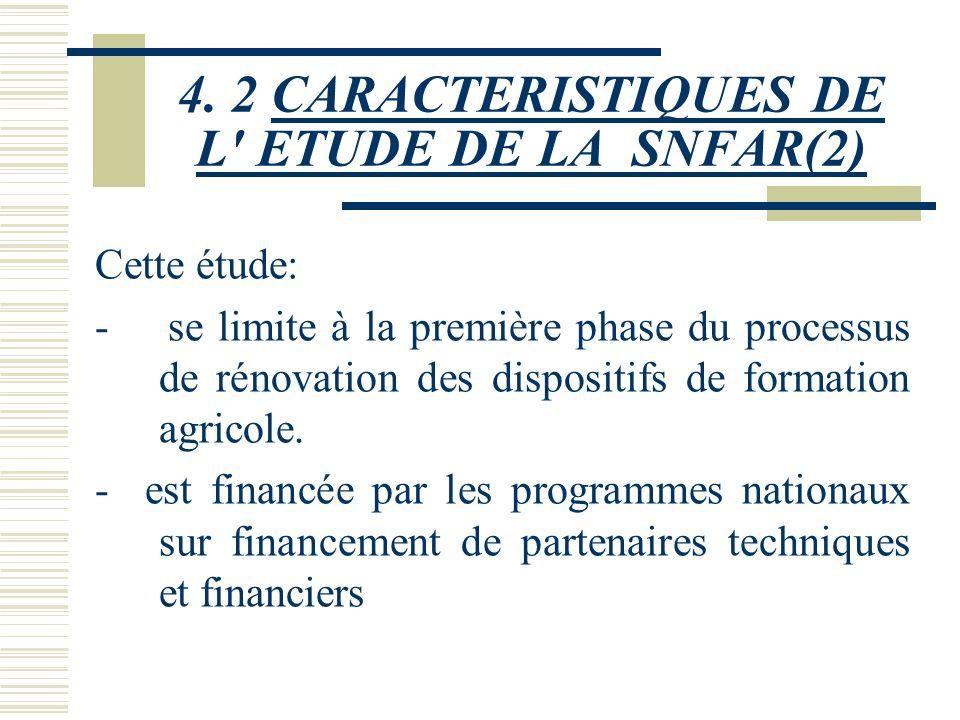 4. 2 CARACTERISTIQUES DE L ETUDE DE LA SNFAR(2)