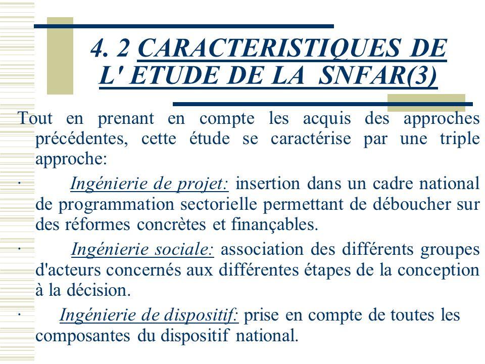 4. 2 CARACTERISTIQUES DE L ETUDE DE LA SNFAR(3)