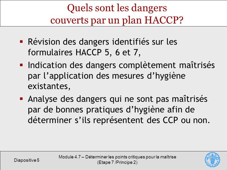 Quels sont les dangers couverts par un plan HACCP