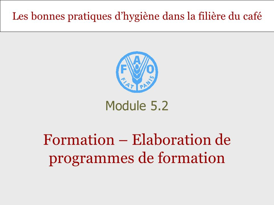Formation – Elaboration de programmes de formation