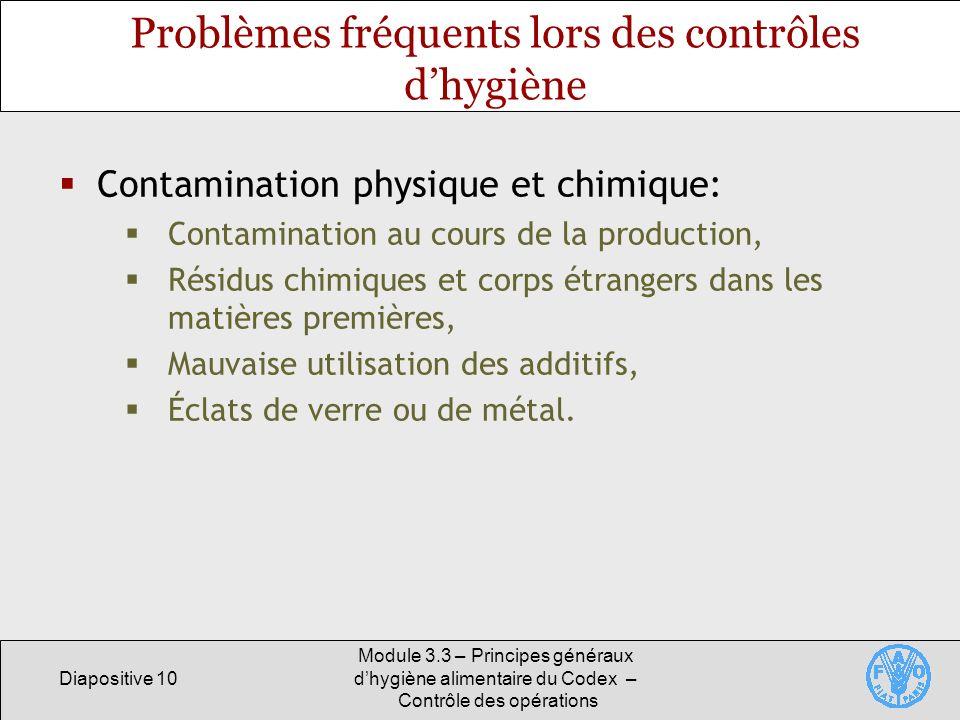 Problèmes fréquents lors des contrôles d'hygiène