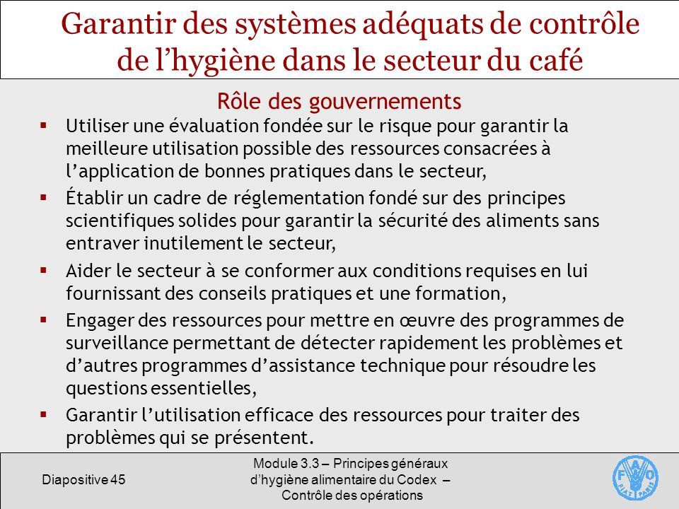 Rôle des gouvernements