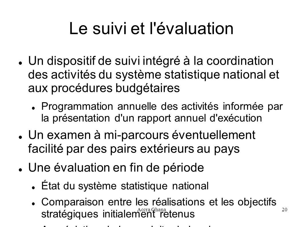 Le suivi et l évaluation