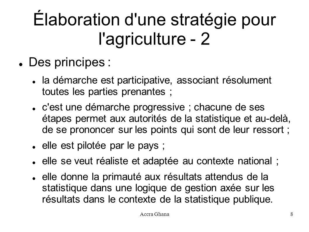 Élaboration d une stratégie pour l agriculture - 2