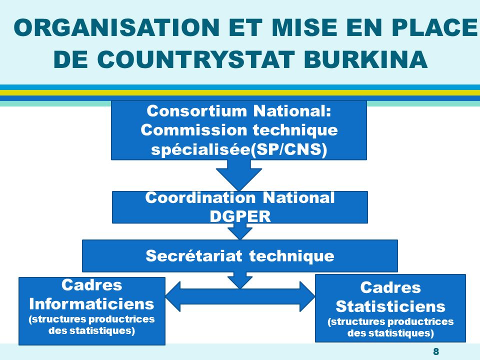 ORGANISATION ET MISE EN PLACE DE COUNTRYSTAT BURKINA