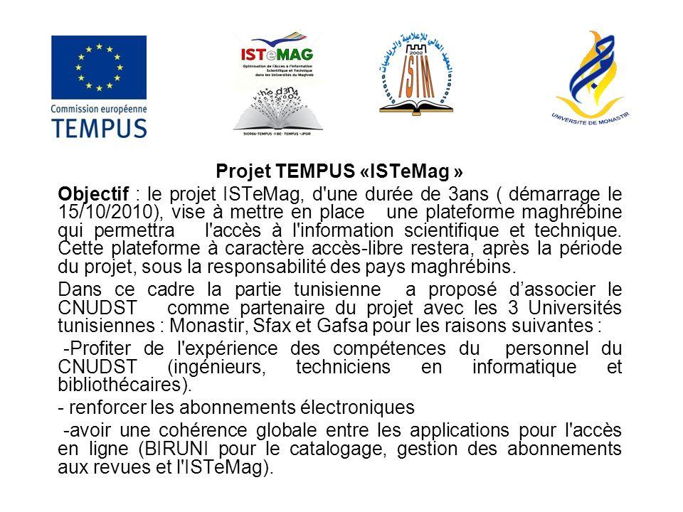 Projet TEMPUS «ISTeMag »