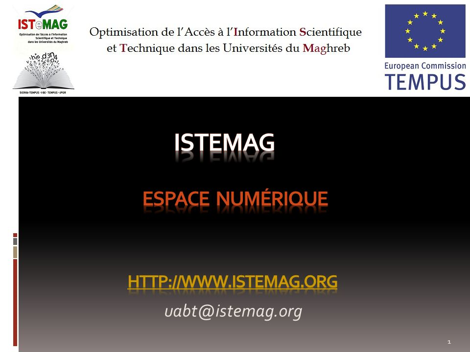 istemag Espace numérique http://www.istemag.org uabt@istemag.org