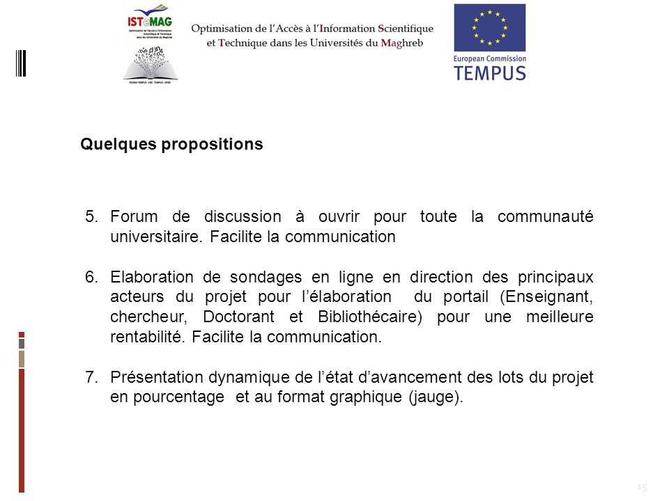 Quelques propositions