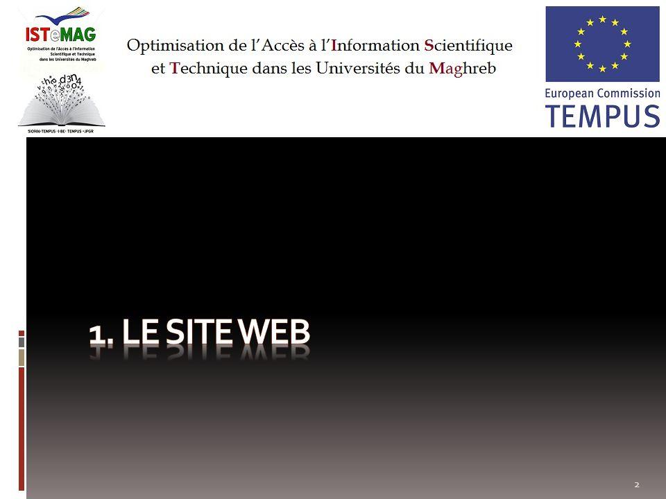 1. Le site Web
