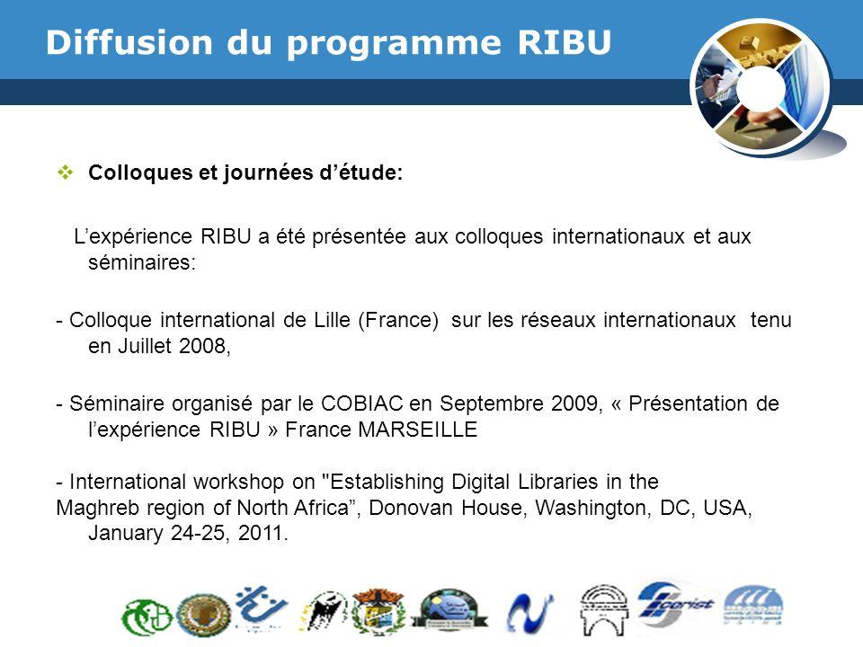 Diffusion du programme RIBU