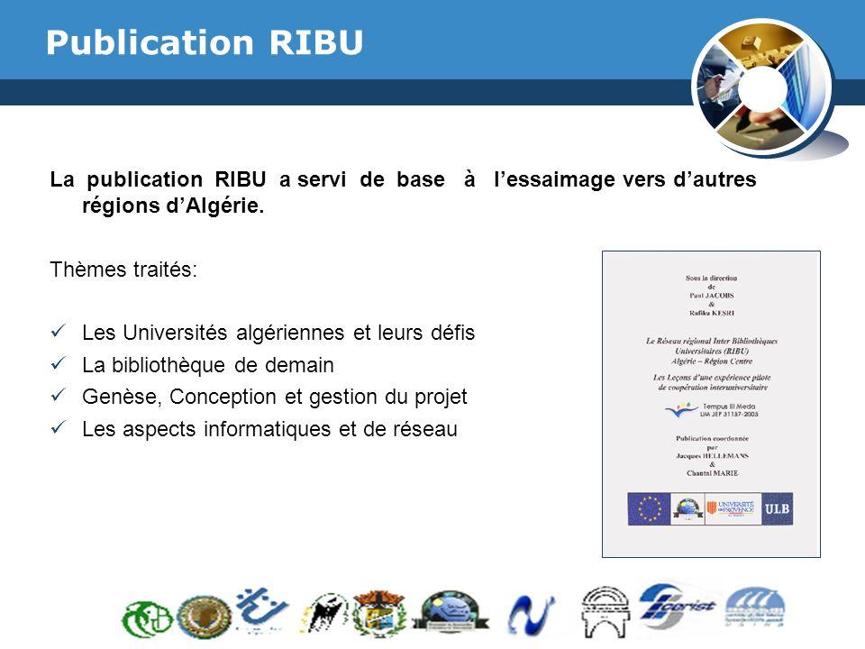 Publication RIBU www.thmemgallery.com. La publication RIBU a servi de base à l'essaimage vers d'autres régions d'Algérie.