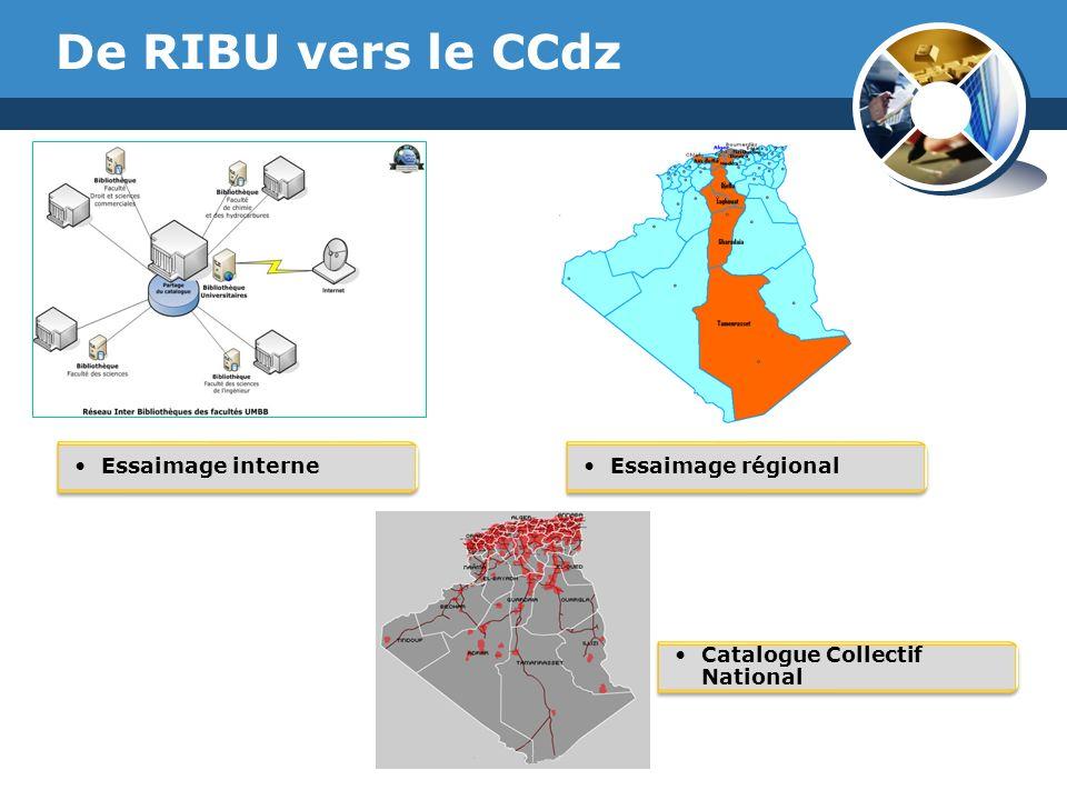 De RIBU vers le CCdz Essaimage interne Essaimage régional