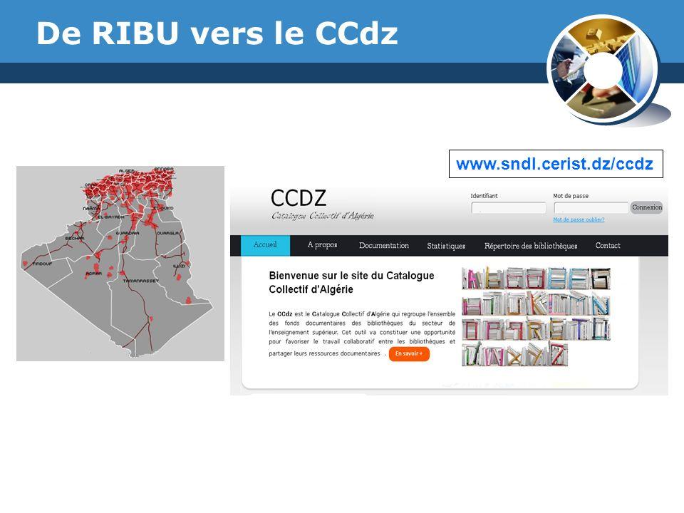 De RIBU vers le CCdz www.sndl.cerist.dz/ccdz www.thmemgallery.com