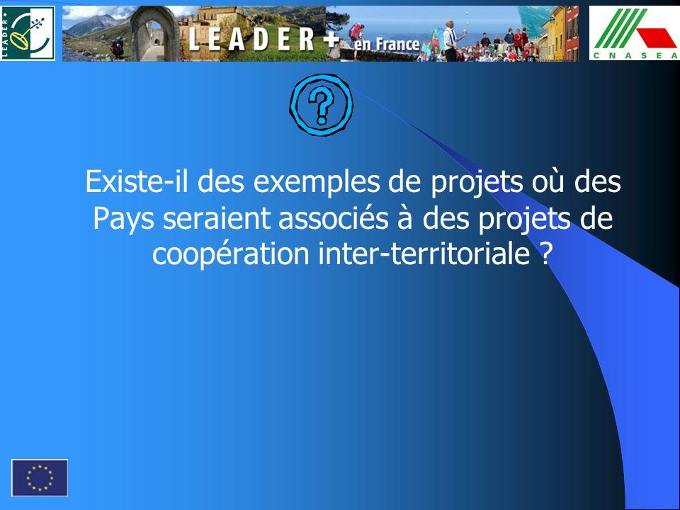 Existe-il des exemples de projets où des Pays seraient associés à des projets de coopération inter-territoriale