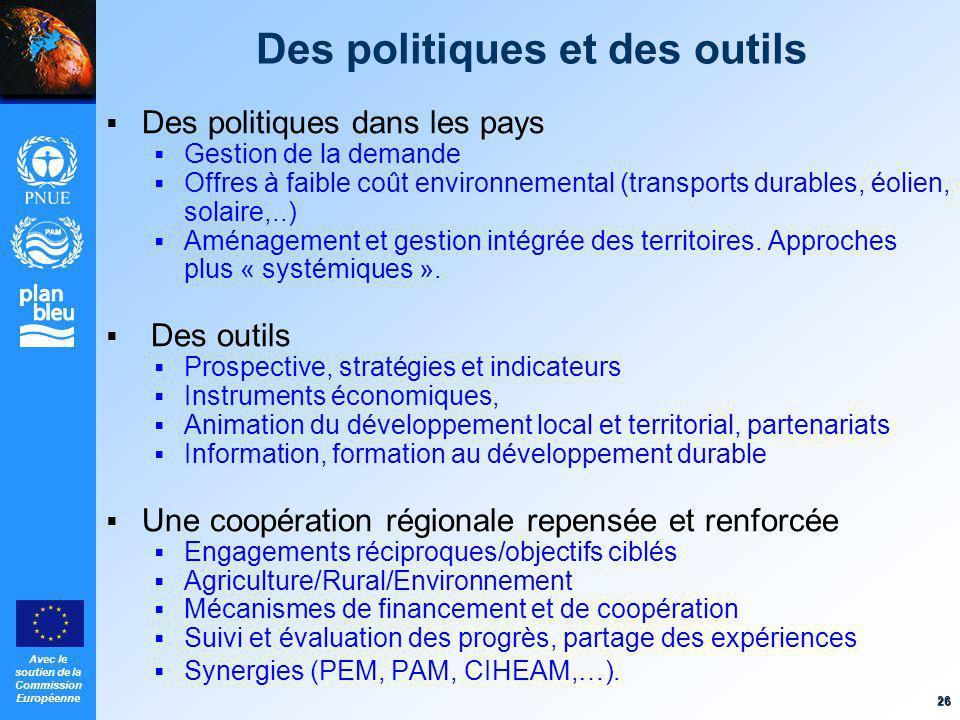 Des politiques et des outils