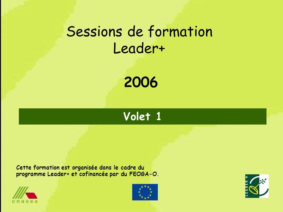 Sessions de formation Leader+ 2006