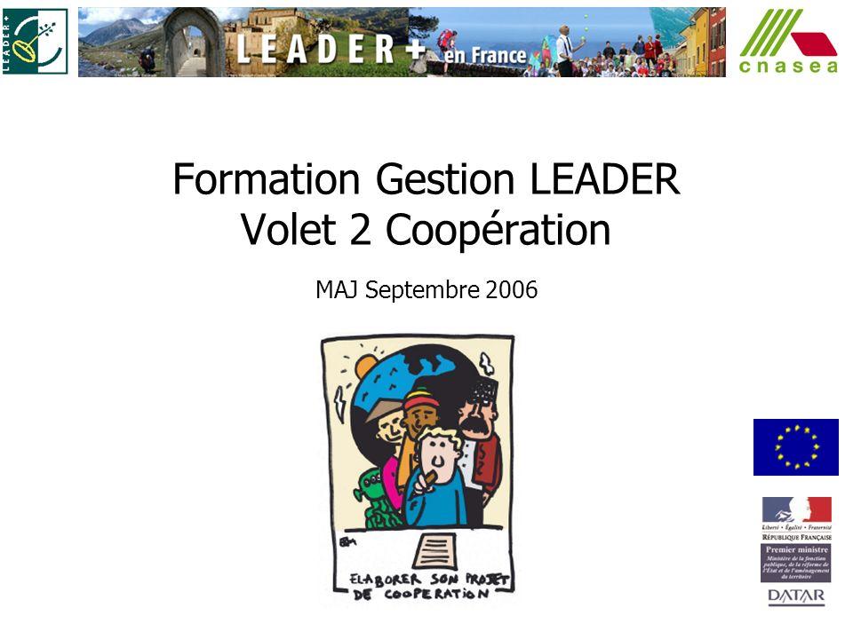 Formation Gestion LEADER Volet 2 Coopération