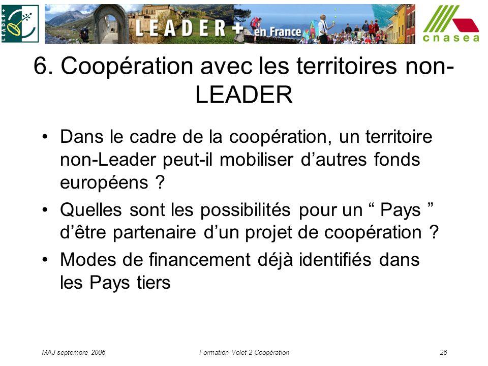 6. Coopération avec les territoires non-LEADER