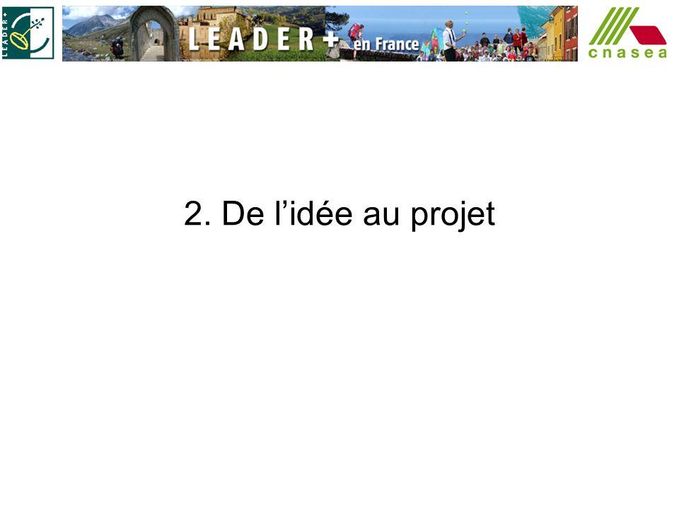 2. De l'idée au projet