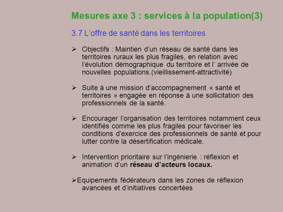 Mesures axe 3 : services à la population(3)
