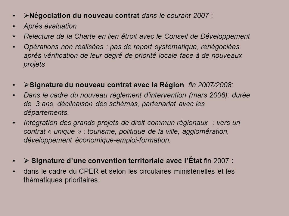 Négociation du nouveau contrat dans le courant 2007 :