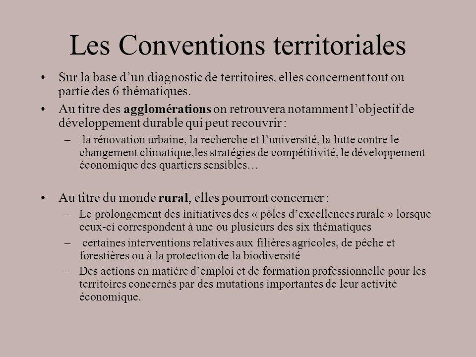 Les Conventions territoriales