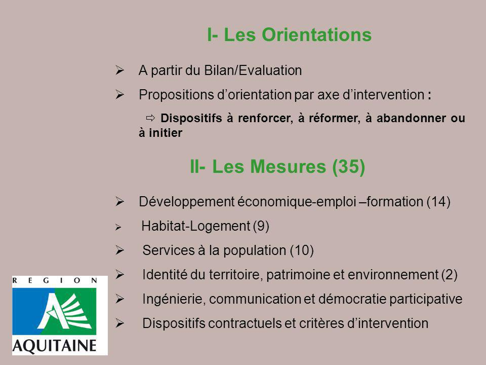 I- Les Orientations A partir du Bilan/Evaluation