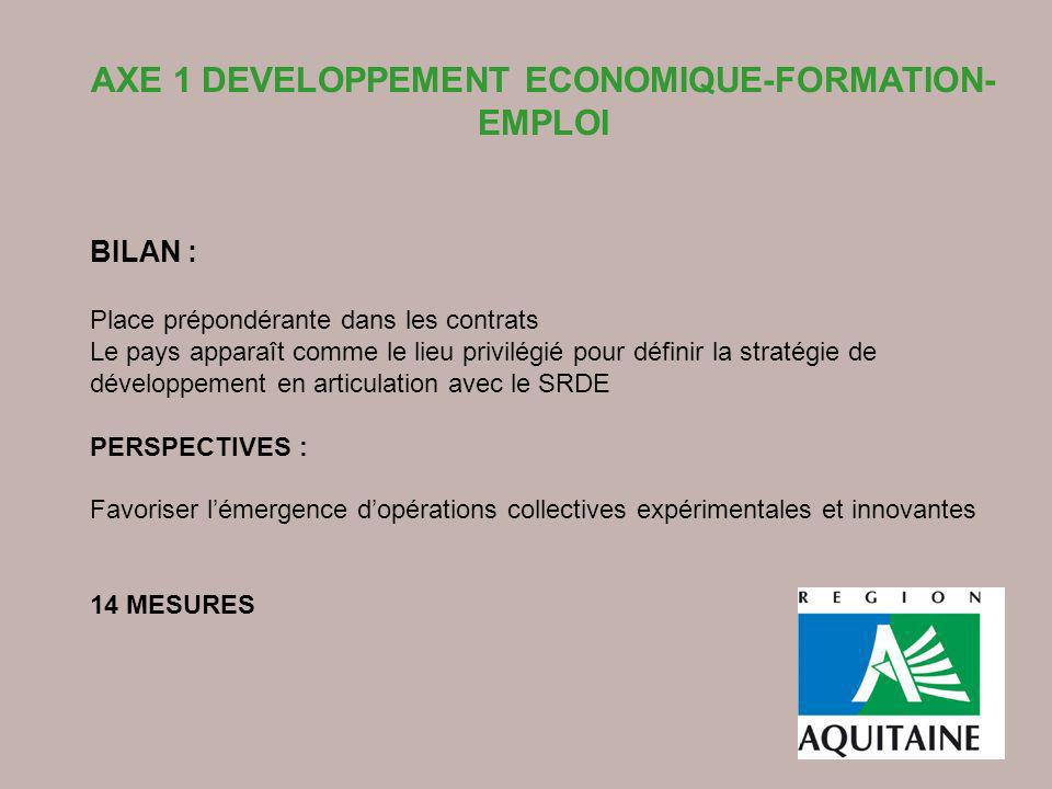 AXE 1 DEVELOPPEMENT ECONOMIQUE-FORMATION-EMPLOI